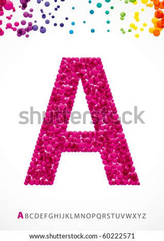 Bright letter A from the alphabet (eps10) - stock vector
