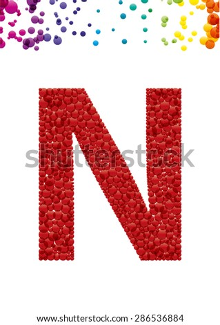 Bright letter N from the alphabet (eps10) - stock vector