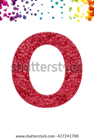 Bright letter O from the alphabet (eps10) - stock vector