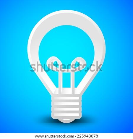 Bright light bulb illustration/background with vivid bright backdrop - innovation - stock vector