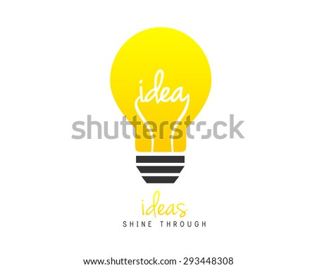 Bright lightbulb as idea symbol