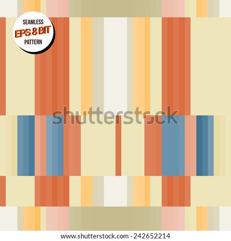 Bright minimalistic 8 bit background. Seamless pattern. Vector design. - stock vector