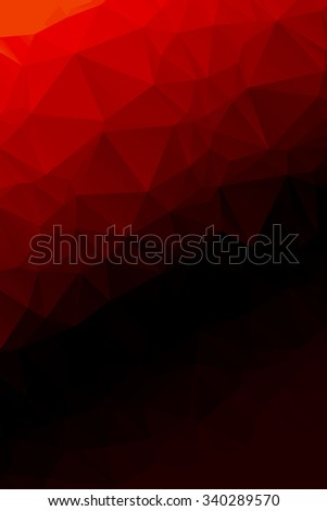Bright, modern geometric abstract polygon background for web design and presentation. Vertical pattern. Vector EPS 10 - stock vector