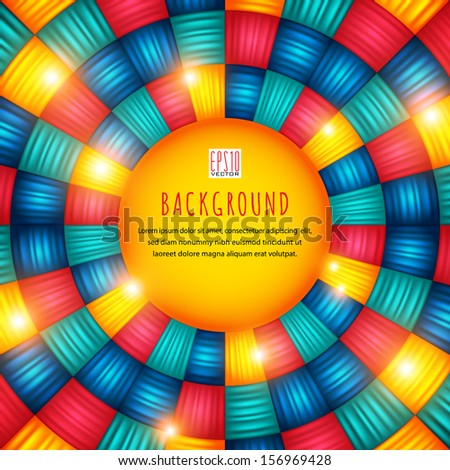 Bright mosaic background.The illustration contains transparency and effects. EPS10 - stock vector