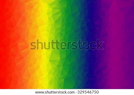 Spectrum Of Colors Low Polygon Background Triangles As