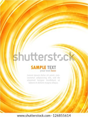Bright orange background - stock vector