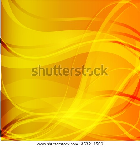 Bright orange background. Abstract colorful illustration EPS10 - stock vector