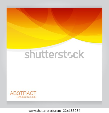 Bright orange background. Abstract colorful illustration with  on gray background - stock vector
