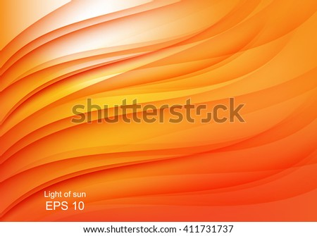 Bright orange background with abstract waves Vector design eps 10,concept in flame of fire background