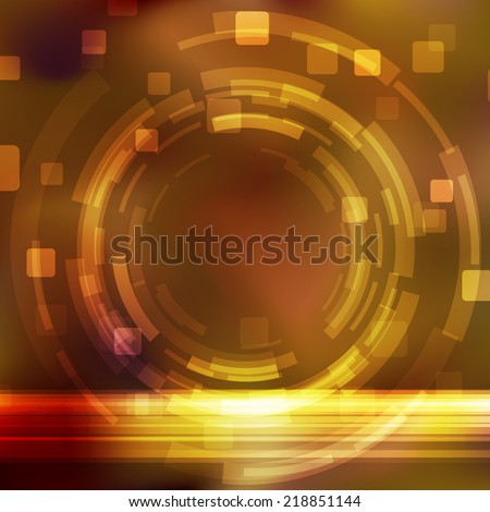 Bright orange gear modeling background template. Vector illustration - stock vector