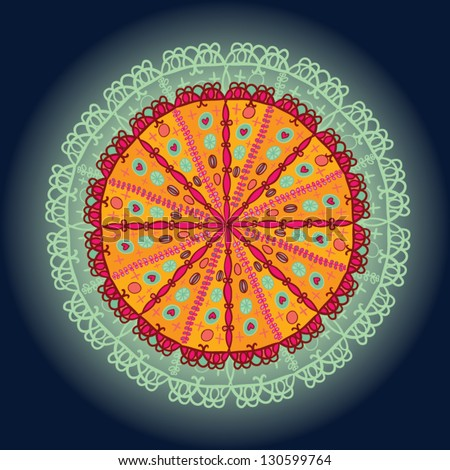 bright ornamental circle