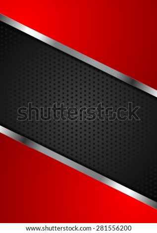 Bright perforated background with metallic design. Vector illustration - stock vector