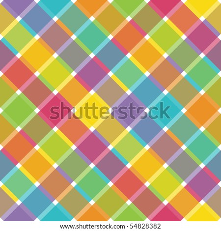 Bright Plaid Vector