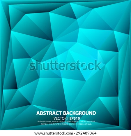 Bright polygon abstract background.Vector EPS 10 illustration. - stock vector