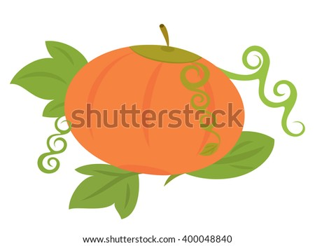 Bright pumpkin on isolated background - stock vector