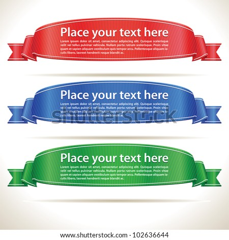 Bright Realistic Ribbon Banners - stock vector