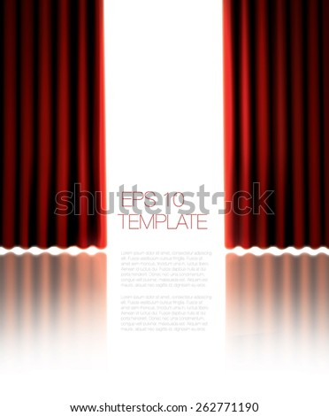 Set Backgrounds Red Blue Velvet Curtain Stock Vector 132984497 ...