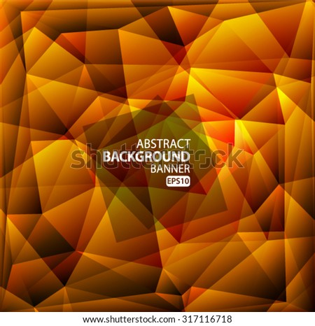 Bright red, yellow polygon abstract background.Vector EPS 10 illustration. - stock vector