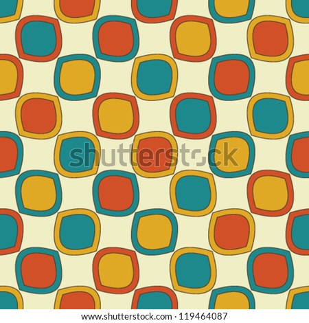 Bright seamless pattern with colored squares