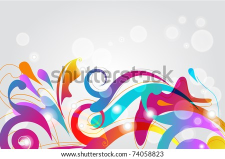 Bright seamless vector background with multicolor pattern