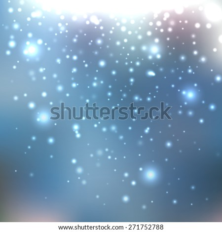 Bright shining with particles on blurred background. Vector illustration for your design - stock vector
