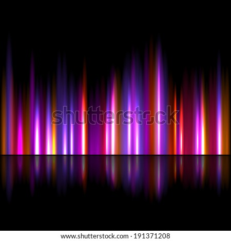Bright sound wave background - stock vector