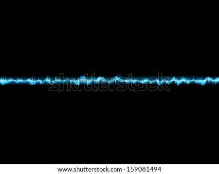 Bright sound wave on a dark blue background. EPS 10 vector file included - stock vector