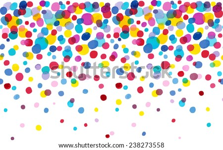 Bright Spot watercolor dot endless pattern. Ideal for printing onto fabric and paper or decoration. - stock vector