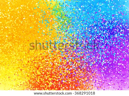 Bright sprayed paint rainbow colors vector abstract horizontal background - stock vector