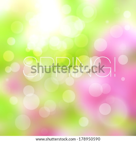 Bright spring background - stock vector