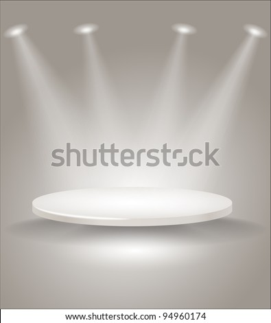 Bright stage with spot lights