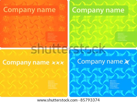 bright stylish business Card Template - stock vector