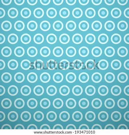 Bright summer vector pattern. Colorful texture can be used for printing onto fabric and paper or scrap booking. Blue color. Polka dot and circle shapes. - stock vector