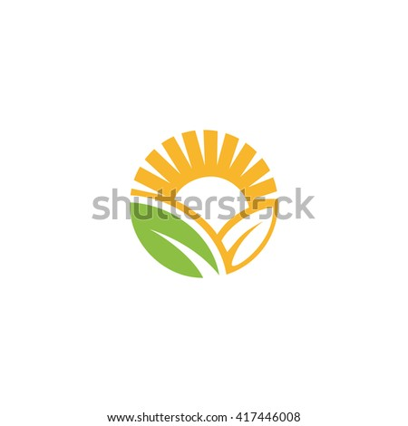 Logotype Vector Sun Abstract Isolated Sign Stock Vector ...