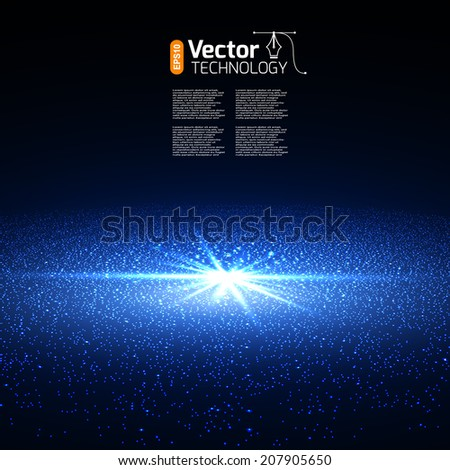 Bright supernova remnant nebula with thousands stars. - stock vector