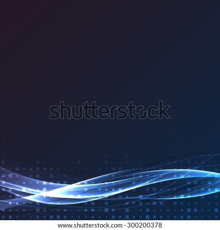 Bright swoosh speed abstract wave layout. Vector illustration - stock vector