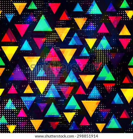 bright triangle seamless pattern - stock vector