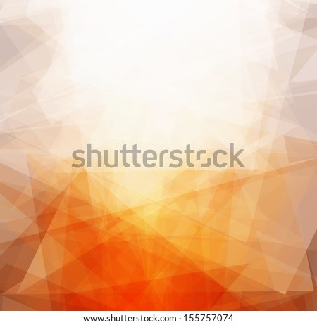 bright triangles sun abstract background vector - stock vector