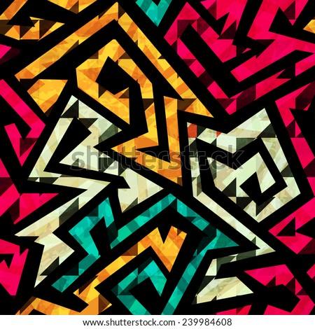 bright tribal seamless pattern - stock vector