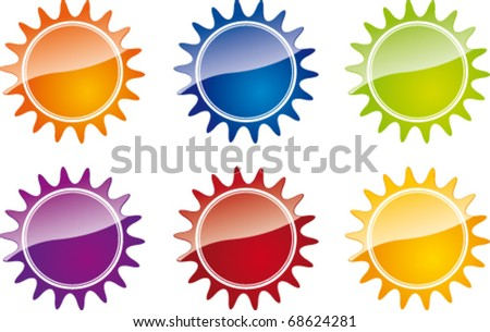 bright vector stickers for sale - stock vector