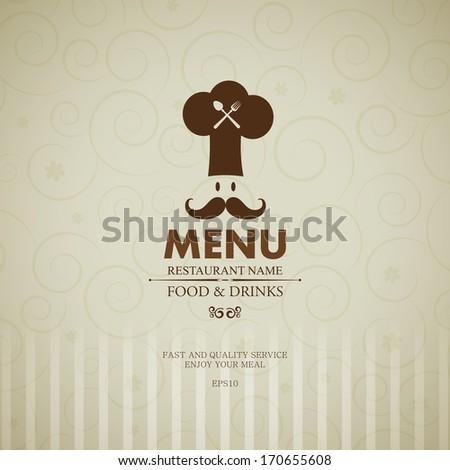 Bright vintage restaurant menu. - stock vector