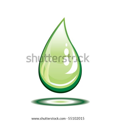 Bright water drop. Vector illustration. - stock vector
