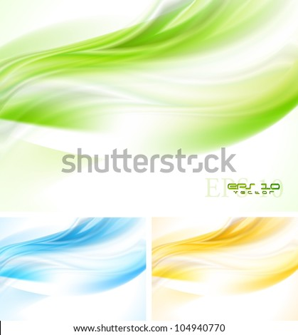 Bright wave backgrounds. Vector eps 10 - stock vector