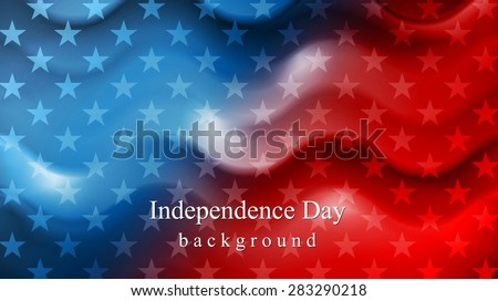 Bright wavy Independence Day background. Vector design - stock vector