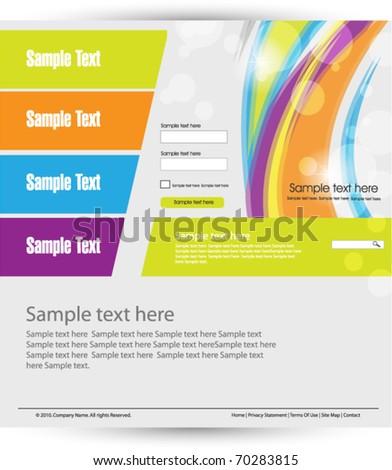 bright web design template - stock vector