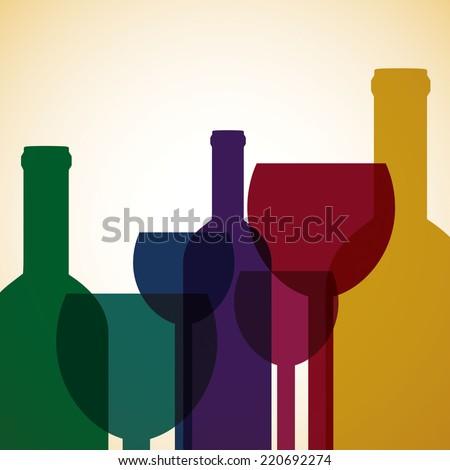Bright wine list menu cover in vector format. - stock vector