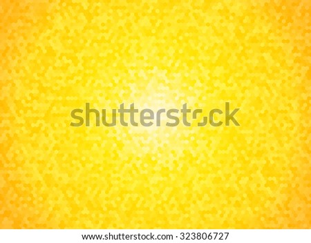 bright yellow hexagon background with vignette