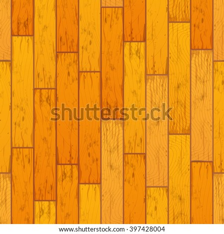 Bright yellow wooden boards in row seamless pattern - stock vector