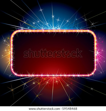 Brightly Sparkling sign for your design or text(only simply gradients used)-MORE SIMILAR BACKGROUNDS SEE AT MY GALLERY - stock vector