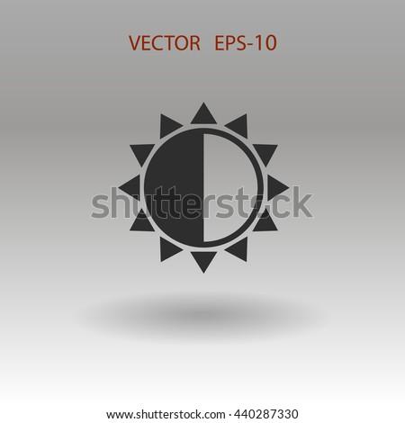 Brightness icon - stock vector